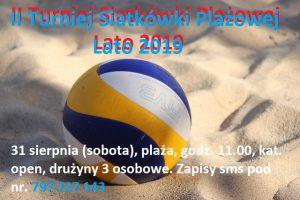 W sobotę turniej siatkówki – plaża OSiR