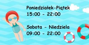 Godziny otwarcia pływalni Wodnik     od 1 września 2020r.